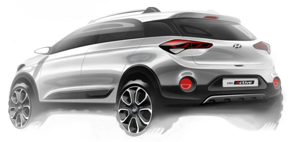 Hyundai i20 Active rendering