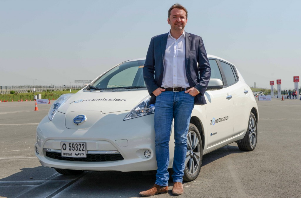 Mr. Guillaume Sicard, President– Nissan India Operations with Nissan LEAF-largest selling EV of the world at the Nissan Carnival