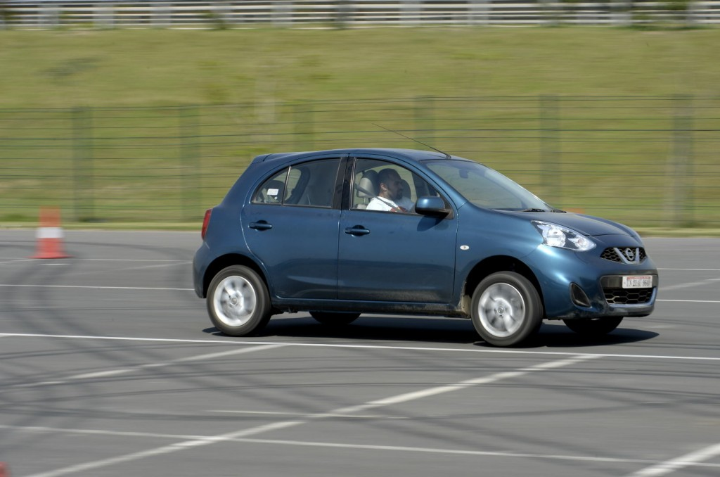 Showcasing its manoeuvres-Nissan Micra at the purpose-built track at Nissan Carnival at Buddh Inlt. Circuit