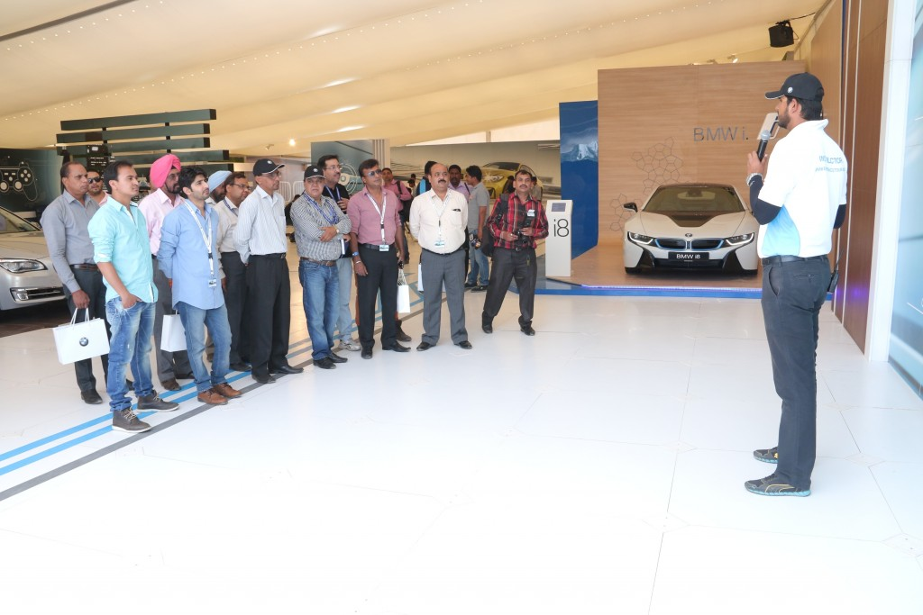 Safety briefing media at BMW Experience Tour 2015 in Chandigarh