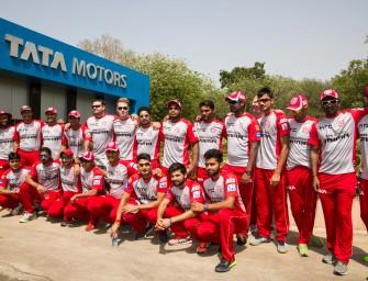 Tata Motors hosts their Tata Motors PRIMA Kings XI Punjab Team at its Pune Plant