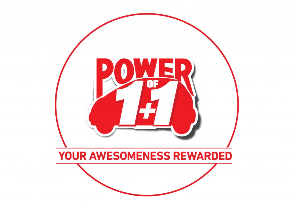 POWER OF 1+1 LOGO