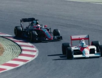 Fernando Alonso drives Ayrton Senna's McLaren MP4-4 [video]