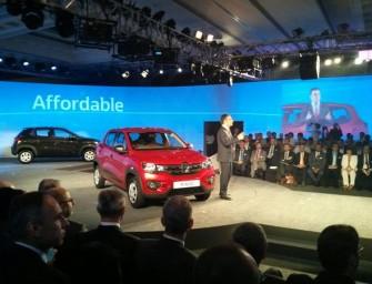 Renault Kwid Compact Hatchback unveiled in India