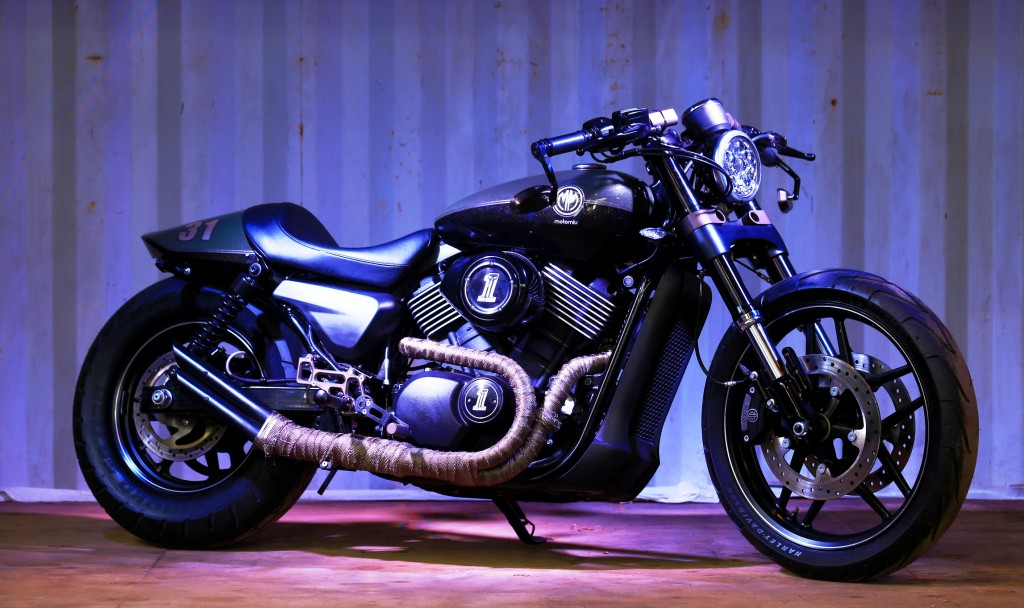 Harley-Davidson motorcycle customized by MotoMiu