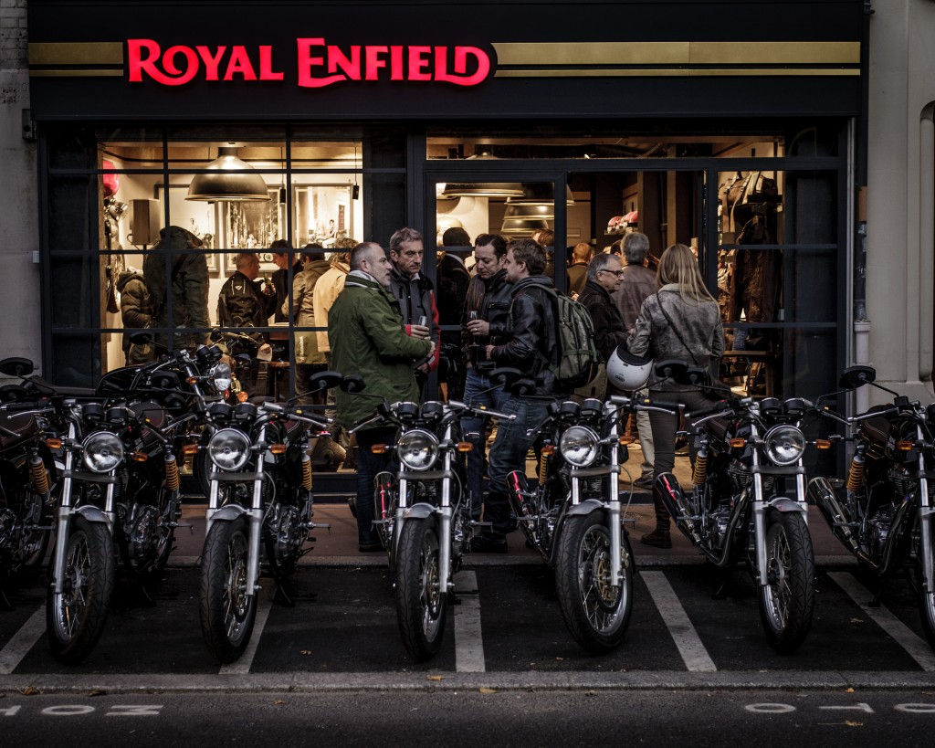 Royal Enfield Paris store opening