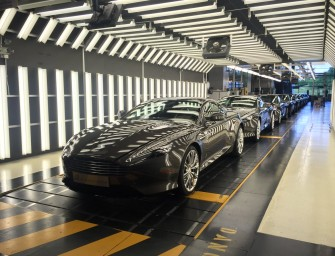 Aston Martin's last few DB9s roll out of the assembly line