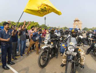 Royal Enfield flags off the 14th edition of Himalayan Odyssey 2017 from India Gate