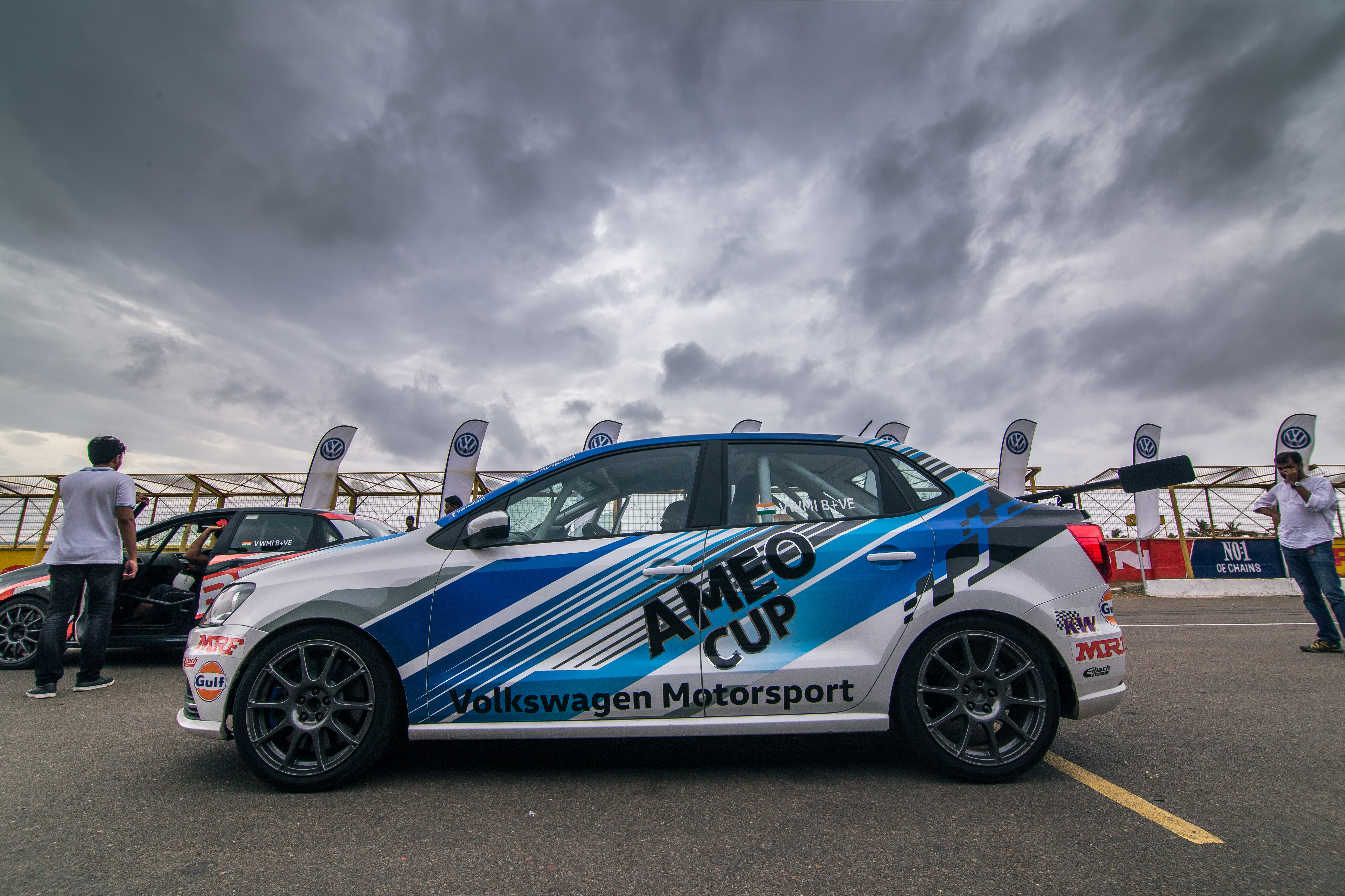 In terms of dimensions the ameo cup car is essentially the vw ameo with some marginal difference there are some elements that strike our eyes at the first