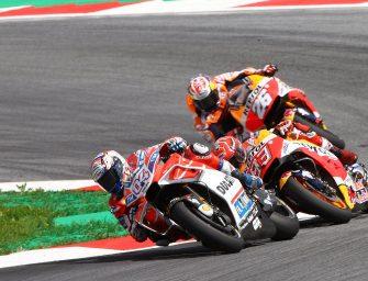MotoGP: Dovizioso Beats Marquez In Wild Austria Race