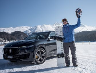 Towed by Maserati Levante – British Snowboard sensation Jamie Barrow breaks Guinness World Record for fastest speed on a snowboard!