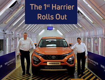 The 1stTata Harrier rolls out from its all- new assembly line in Pune
