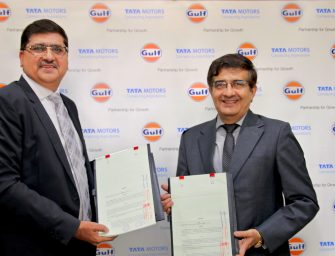 Tata Motors and Gulf Oil inked an agreement to launch a co-branded lubricant range for its passenger vehicles in India